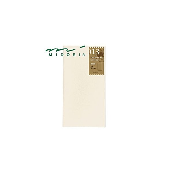 リフィル ミドリ トラベラーズノート リフィル 軽量紙 5個セット No. 14287006