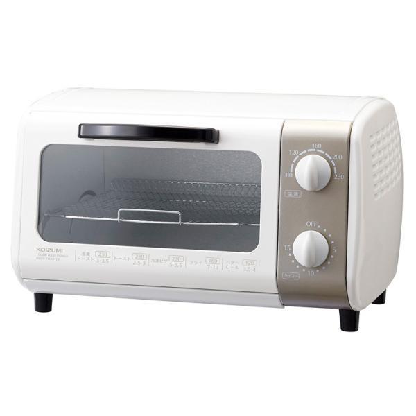 トースター オーブントースター KOIZUMI  コイズミ 送料無料 温度調節 温調 機能 KOS1022W|||coconial|02