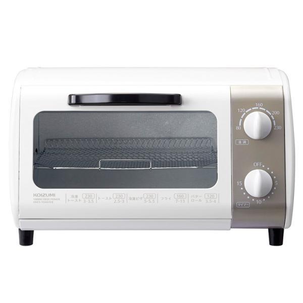 トースター オーブントースター KOIZUMI  コイズミ 送料無料 温度調節 温調 機能 KOS1022W|||coconial|03