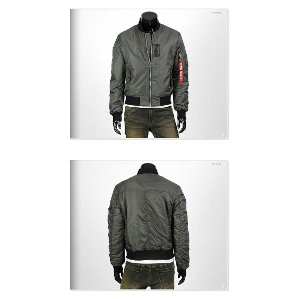 フライト ジャケット メンズ ジップアップ ショート ジャンパー ベーシック シンプル シャイニング 生地 上着 無地 ソリッド 4色|coconoco|03