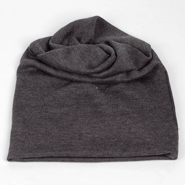 ニット帽  メンズ レディース ビーニー ツイスト ターバン グレー 灰色 コットン 混紡 送料無料|coconoco