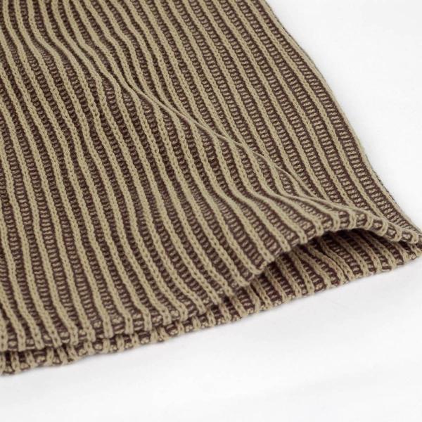 ニット帽  メンズ レディース ビーニー ストライプ ブラウン色 テレコ生地 アクリル  送料無料|coconoco|02