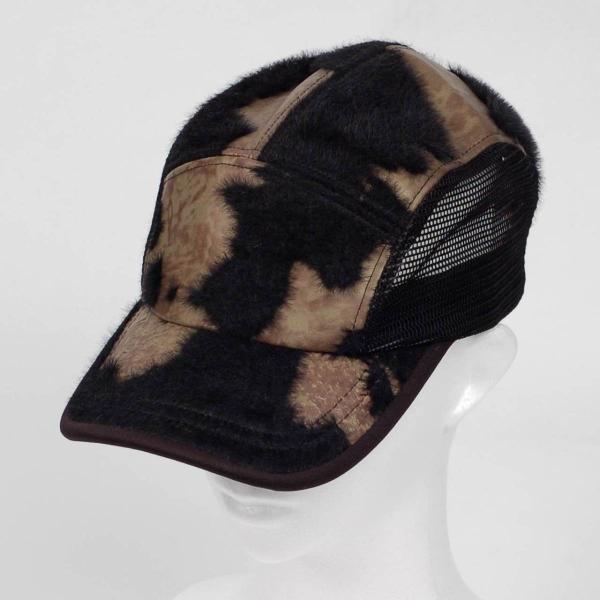 スナップバック キャップ フェイクレザー ファー ブラック ブラウン メッシュ 帽子 キャップ帽 coconoco