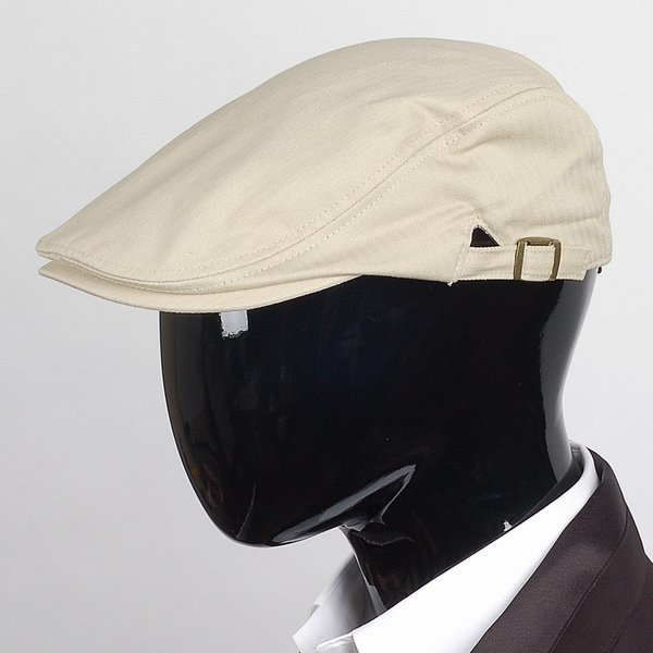 ハンチング帽 メンズ コットン ヘリンボーン ハンチングキャップ ライト ベージュ色 ハンチング帽子 フリーサイズ (58cm) 調整可能 ハンチングの定番|coconoco|11