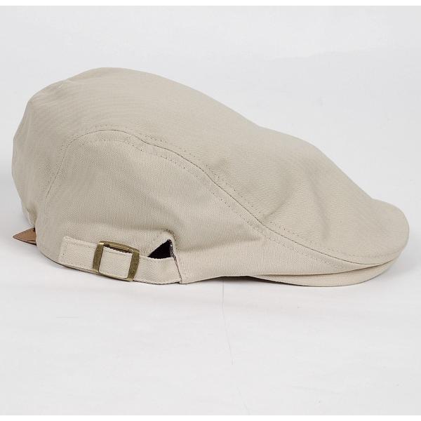 ハンチング帽 メンズ コットン ヘリンボーン ハンチングキャップ ライト ベージュ色 ハンチング帽子 フリーサイズ (58cm) 調整可能 ハンチングの定番|coconoco|04