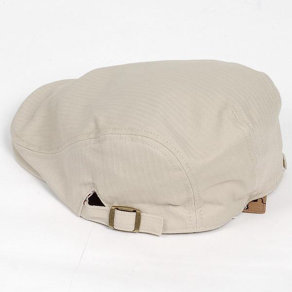 ハンチング帽 メンズ コットン ヘリンボーン ハンチングキャップ ライト ベージュ色 ハンチング帽子 フリーサイズ (58cm) 調整可能 ハンチングの定番|coconoco|06