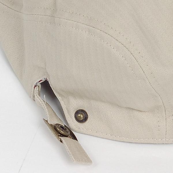 ハンチング帽 メンズ コットン ヘリンボーン ハンチングキャップ ライト ベージュ色 ハンチング帽子 フリーサイズ (58cm) 調整可能 ハンチングの定番|coconoco|07