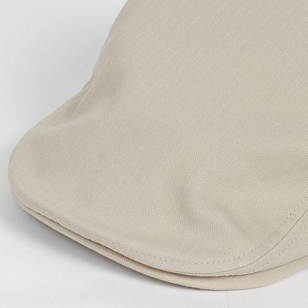 ハンチング帽 メンズ コットン ヘリンボーン ハンチングキャップ ライト ベージュ色 ハンチング帽子 フリーサイズ (58cm) 調整可能 ハンチングの定番|coconoco|08