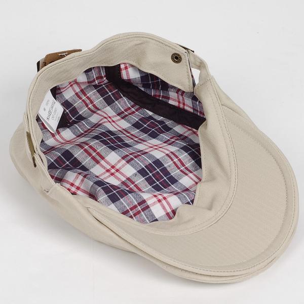 ハンチング帽 メンズ コットン ヘリンボーン ハンチングキャップ ライト ベージュ色 ハンチング帽子 フリーサイズ (58cm) 調整可能 ハンチングの定番|coconoco|09