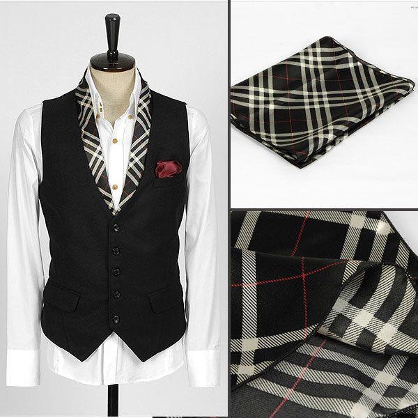 チェック柄・ブラック・ネクタイとスカーフの特徴を合わせた「ネックスカーフ」「ストール」「マフラー」 NTF12|coconoco|04