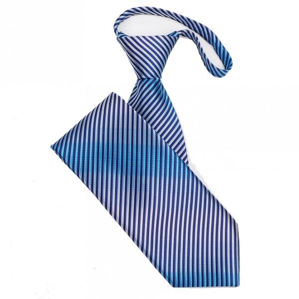 ネクタイ メンズ ワンタッチネクタイ ピン ストライプ グラデーション ネイビー ブルー 大剣幅8.5cm ntm6099|coconoco|04