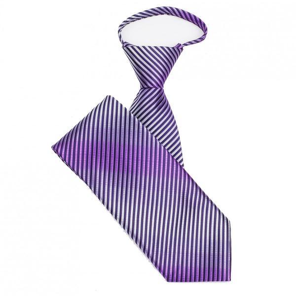 ネクタイ メンズ ワンタッチネクタイ ピン ストライプ柄 グラデーション パープル 紫 大剣幅8.5cm ntm6100|coconoco|04