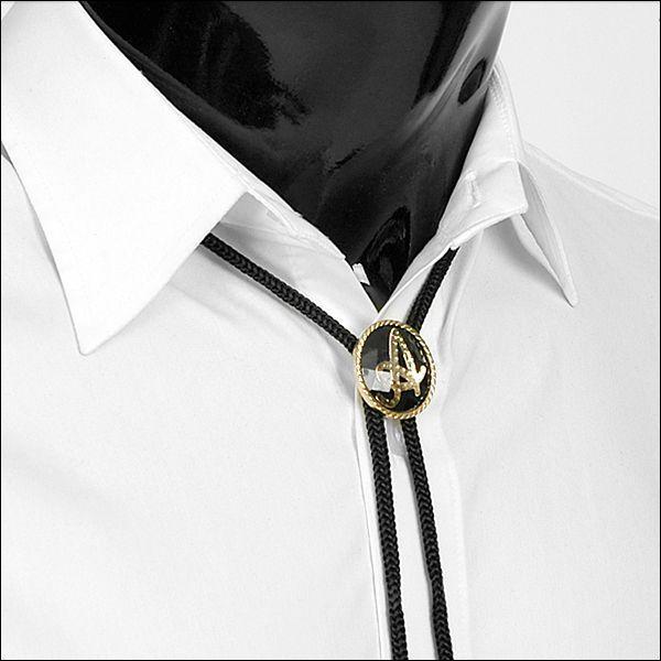 ループタイ ボロタイ イニシャル ペンダント ブラック&ゴールド 全9種 rt07 メンズアクセサリー 紳士用 ループタイ 紐付き ループタイ|coconoco|04