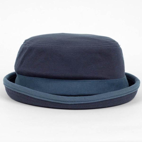 ポークパイハット メンズ レディース スウェット ブルー 青色 ハット帽子 男女兼用 帽子 58cm フリーサイズ|coconoco|02