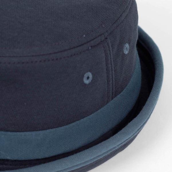 ポークパイハット メンズ レディース スウェット ブルー 青色 ハット帽子 男女兼用 帽子 58cm フリーサイズ|coconoco|05