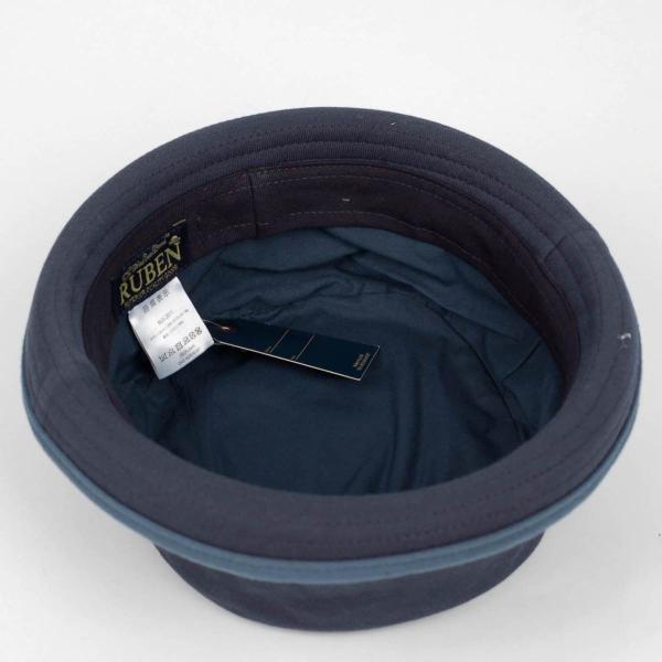 ポークパイハット メンズ レディース スウェット ブルー 青色 ハット帽子 男女兼用 帽子 58cm フリーサイズ|coconoco|06