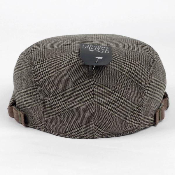 ハンチング帽 メンズ グレンチェック ブラウン ベージュ 秋 冬 ハンチング キャップ 帽子 フリー(58cm) 調整可能 レディース兼用|coconoco|04