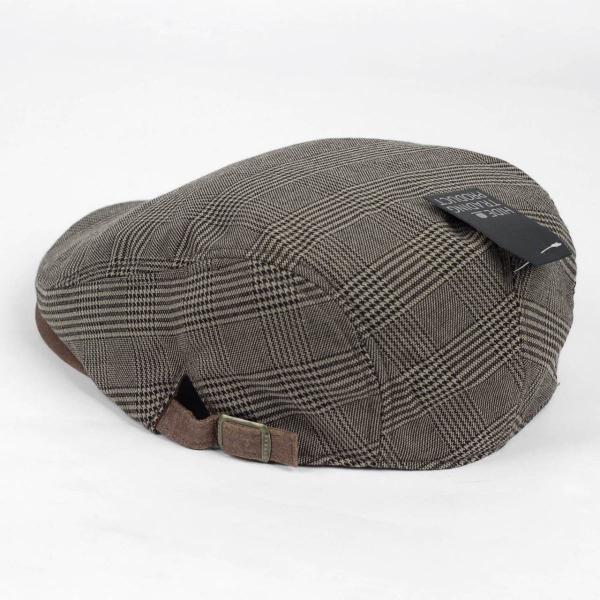 ハンチング帽 メンズ グレンチェック ブラウン ベージュ 秋 冬 ハンチング キャップ 帽子 フリー(58cm) 調整可能 レディース兼用|coconoco|05