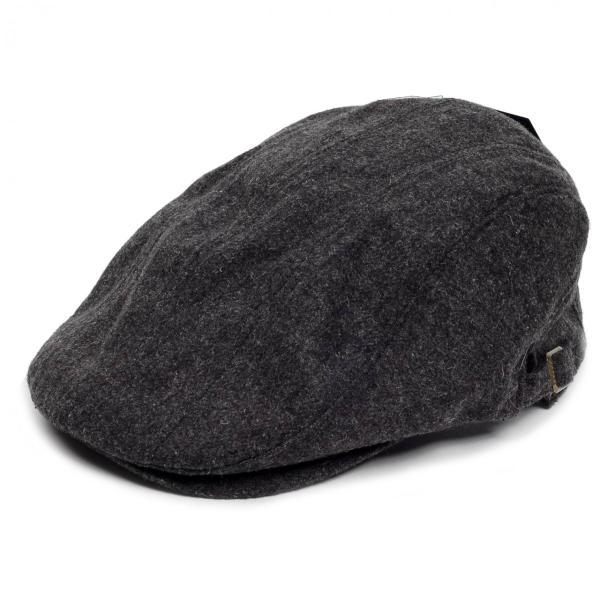 ハンチング帽 メンズ 秋 冬 シーズン グレー 灰色 ソリッド ツイード 毛織 4枚はぎ パッチワーク 接ぎ合わせ ハンチング キャップ 帽子 サイズ 58cm 調整可能 coconoco
