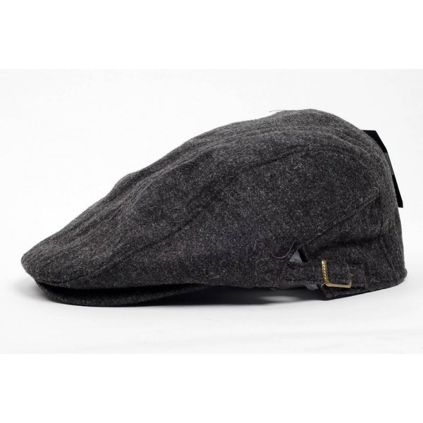 ハンチング帽 メンズ 秋 冬 シーズン グレー 灰色 ソリッド ツイード 毛織 4枚はぎ パッチワーク 接ぎ合わせ ハンチング キャップ 帽子 サイズ 58cm 調整可能 coconoco 02
