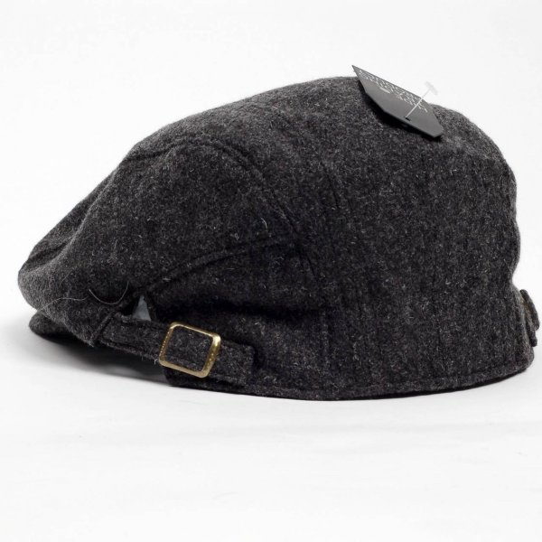 ハンチング帽 メンズ 秋 冬 シーズン グレー 灰色 ソリッド ツイード 毛織 4枚はぎ パッチワーク 接ぎ合わせ ハンチング キャップ 帽子 サイズ 58cm 調整可能 coconoco 03
