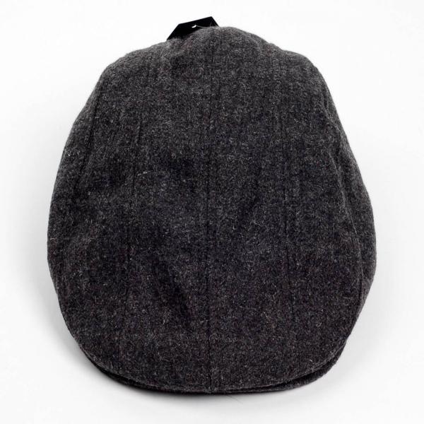 ハンチング帽 メンズ 秋 冬 シーズン グレー 灰色 ソリッド ツイード 毛織 4枚はぎ パッチワーク 接ぎ合わせ ハンチング キャップ 帽子 サイズ 58cm 調整可能 coconoco 04