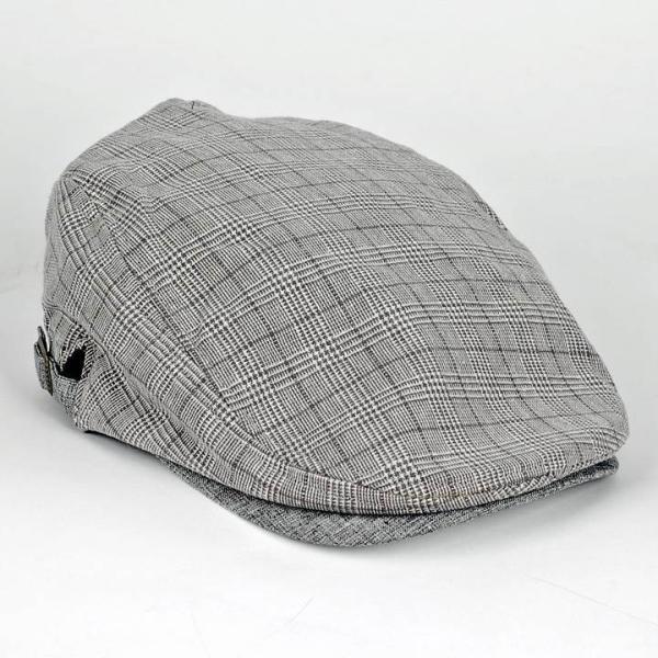 ハンチング グレンチェック メンズ グレー 灰色 サマー スタンダード ハンチング キャップ ハンチング帽子 フリーサイズ (58cm) coconoco 05