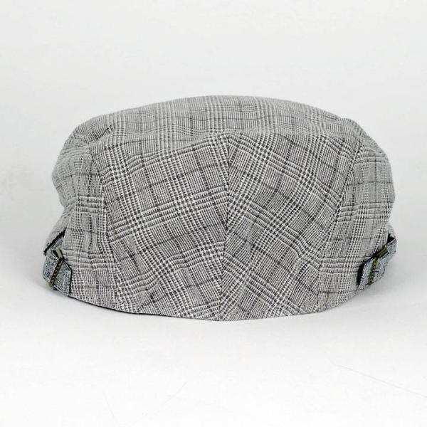 ハンチング グレンチェック メンズ グレー 灰色 サマー スタンダード ハンチング キャップ ハンチング帽子 フリーサイズ (58cm) coconoco 06