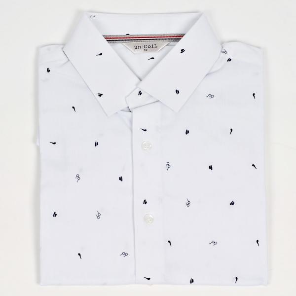ドレスシャツ メガネ ハット タバコパイプ メンズアイテム 伸びる生地 長袖 ワイシャツ スリムライン ネイビーとホワイト 2色|coconoco|06