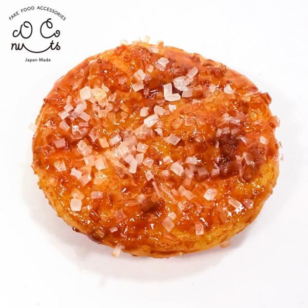 食品サンプル ザラメせんべい キーホルダー ストラップ ざらめ 煎餅 菓子 おやつ|coconuts-ac