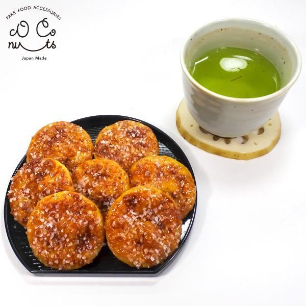 食品サンプル ザラメせんべい キーホルダー ストラップ ざらめ 煎餅 菓子 おやつ|coconuts-ac|05