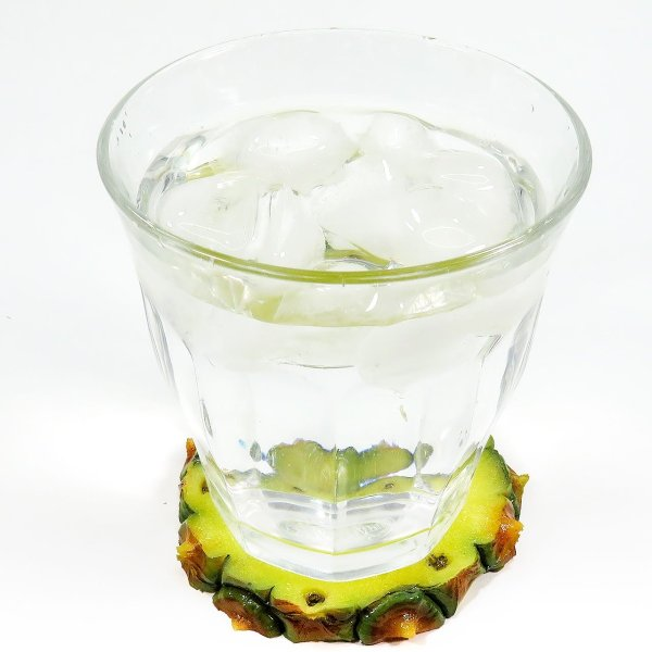 食べちゃいそうな食品サンプルフルーツコースターSサイズ パイン|coconuts-ac|04