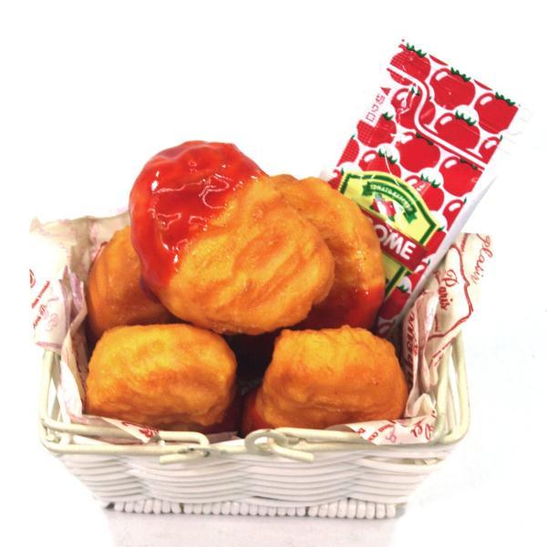食べちゃいそうなチキンナゲット 食品サンプルキーホルダー、ストラップ|coconuts-ac|05