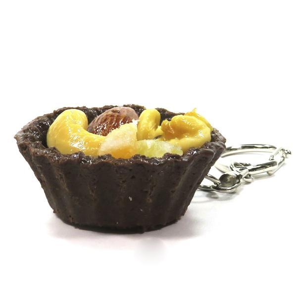 食べちゃいそうなチョコタルト 食品サンプル キーホルダー ストラップ マグネット ナッツ リーフ|coconuts-ac|11