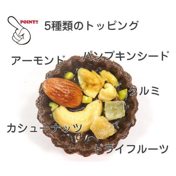 食べちゃいそうなチョコタルト 食品サンプル キーホルダー ストラップ マグネット ナッツ リーフ|coconuts-ac|05