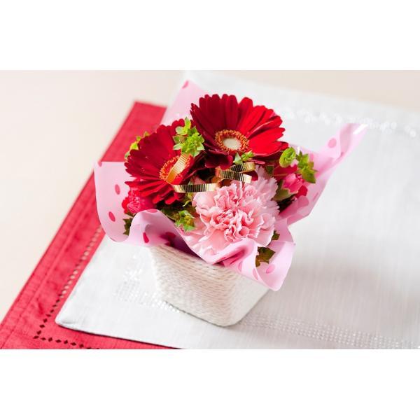 バウムクーヘンとお花のセット アレンジメントフラワー小|cocoro-ystore|06