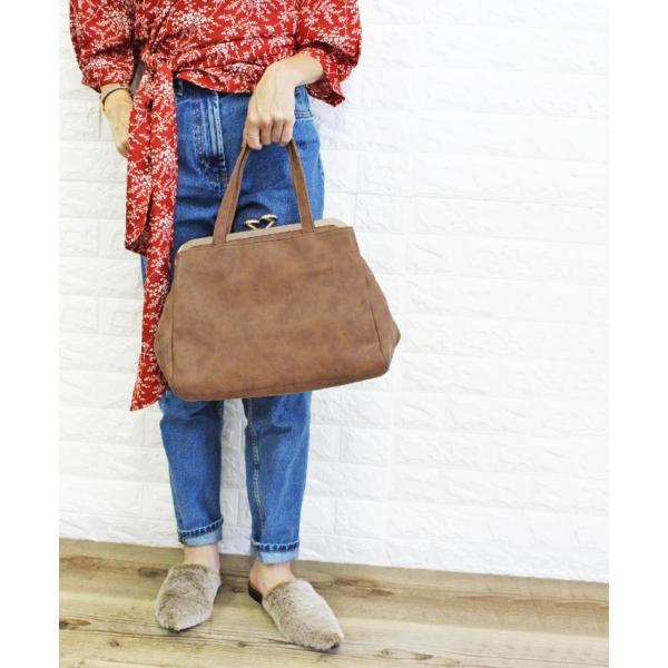 ハンドバッグ 大きめ サイズ がま口 2way バッグ 送料無料 ショルダーバッグ レディース 大容量