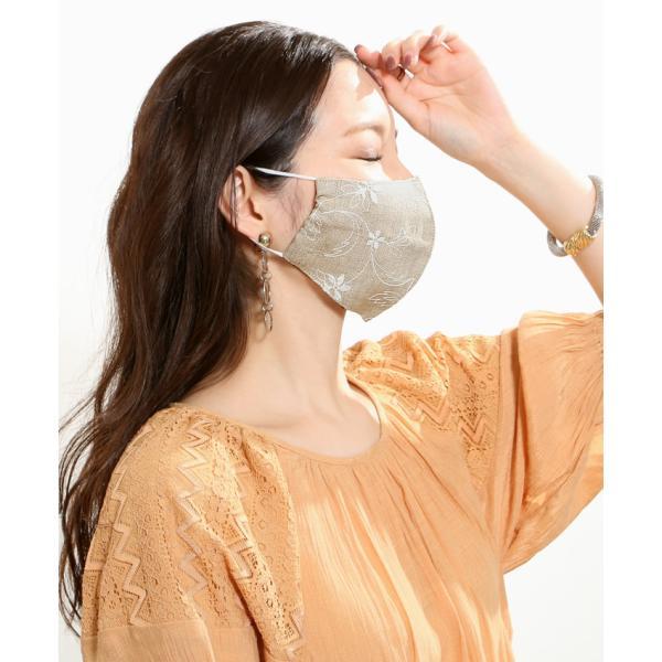 マスク メ0▼ 冷感 接触冷感 レース 刺繍 立体マスク 日本製 洗える おしゃれ 夏用 ひんやりマスク ひんやり 冷感マスク|cocorocreation|11