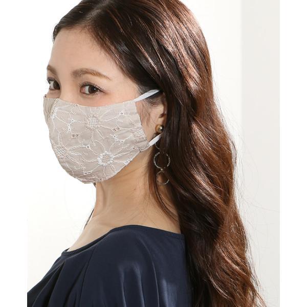 マスク メ0▼ 冷感 接触冷感 レース 刺繍 立体マスク 日本製 洗える おしゃれ 夏用 ひんやりマスク ひんやり 冷感マスク|cocorocreation|05