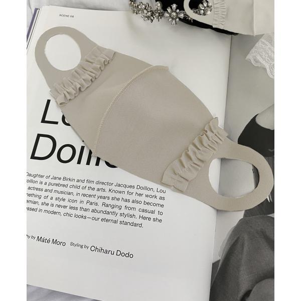 マスク メ0▼ 吸水速乾 UVカット 無地 フリルマスク 立体マスク 日本製 洗える おしゃれ 可愛い 可愛い ファッションマスク 小さめ 大きめ cocorocreation 12