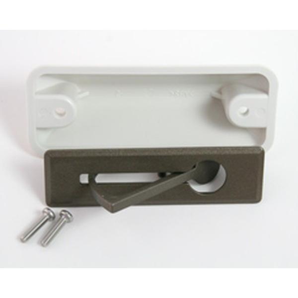 アイワ金属:AP-697E ナショナルタイプ 床下収納庫用 回転取っ手ナショナル対応 回転取手 ブロンズ 00113422