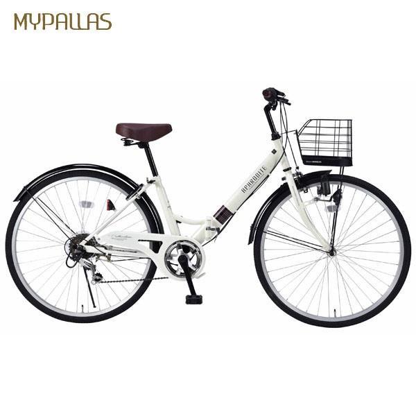 <title>代引不可 MYPALLAS 販売実績No.1 マイパラス :折畳シティサイクル26インチ 6段ギア アイボリー M-507 IV 自転車 アウトドア サイクリング</title>