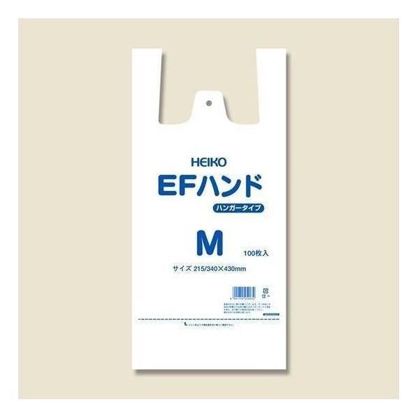 シモジマ:HEIKO レジ袋 EFハンド ハンガータイプ M 100枚 006645913