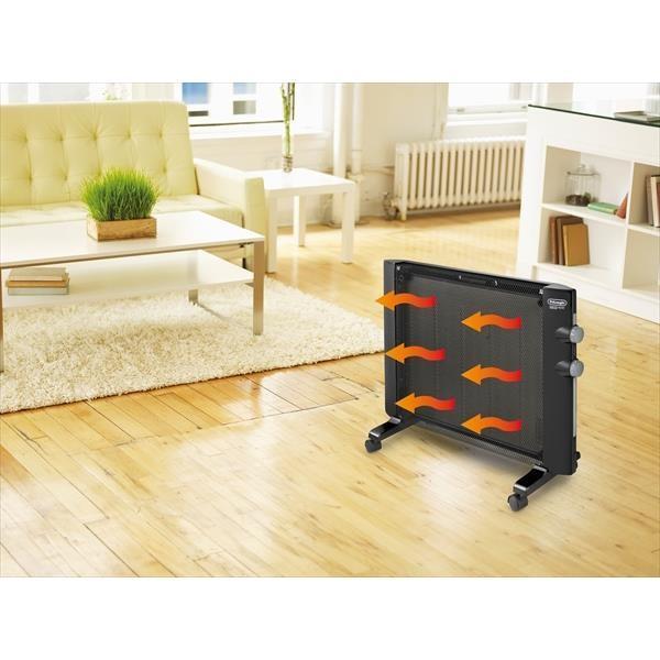 (あすつく)デロンギ:パネルヒーター 900W HMP900J-B 即暖性 キャスター付き 静音|cocoterrace|02