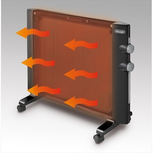 (あすつく)デロンギ:パネルヒーター 900W HMP900J-B 即暖性 キャスター付き 静音|cocoterrace|03