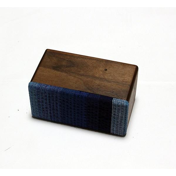 ヨシモク:SOUND FLY Mini 木製無線スピーカー ウォールナット 藍グラデーション SF-M WA