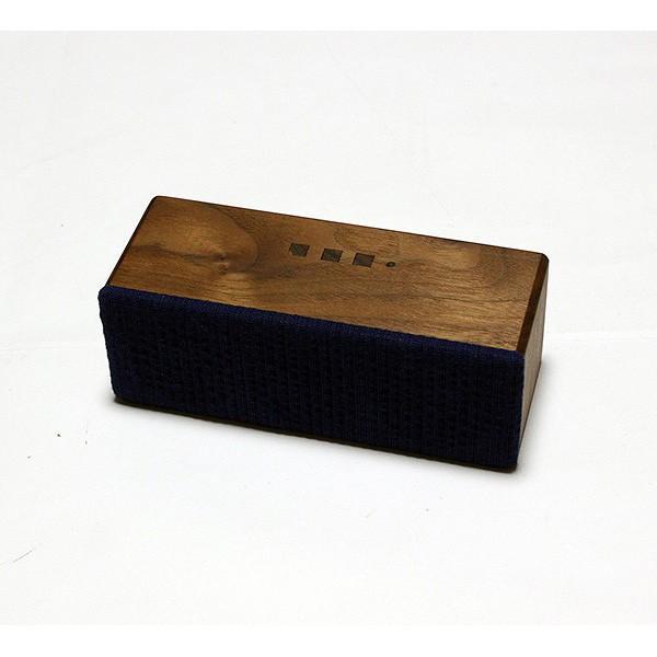 ヨシモク:SOUND FLY SJ 木製無線スピーカー ウォールナット 藍無地 SF-SJ WA