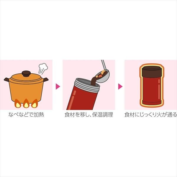 象印マホービン:ステンレスクック&フードジャー 0.75L ダークココア SW-JA75-TD スープジャー 保冷 保温 お弁当 ランチ 味噌汁|cocoterrace|03