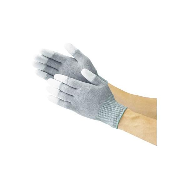 TRUSCO 指先コート静電気対策用手袋 Sサイズ(1双) TGL2996S 3363619