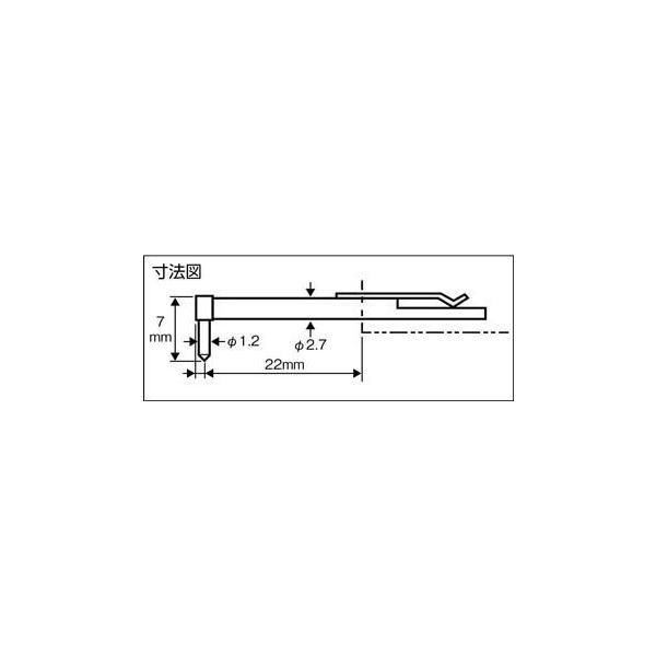 東京精密 差し替え粗さ形状測定子 極細穴・ギアフランク(1本) 0102511 7736002